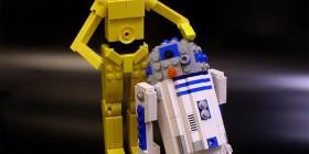 CP3O y R2-D2 hechos con LEGO