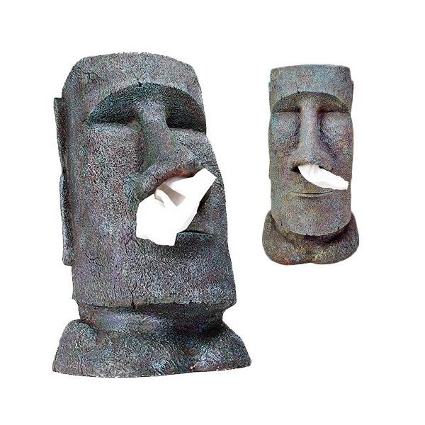 Cabeza Moai para mocosos