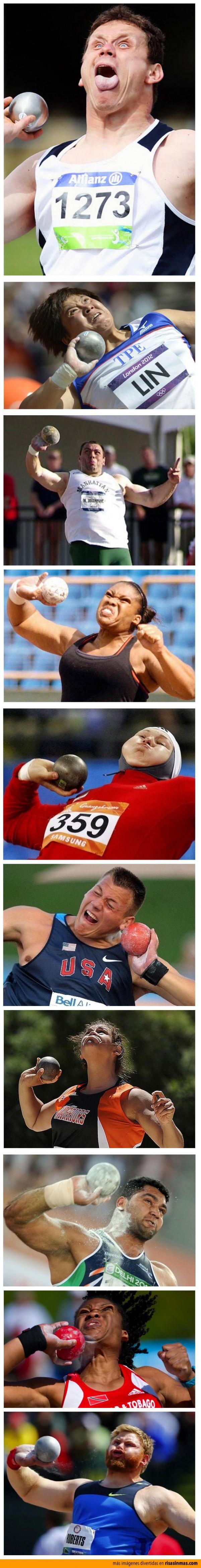 Caras de lanzadores de peso