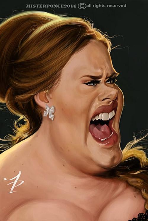 Caricatura de Adele