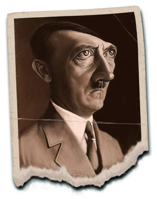 Caricatura de Adolf Hitler