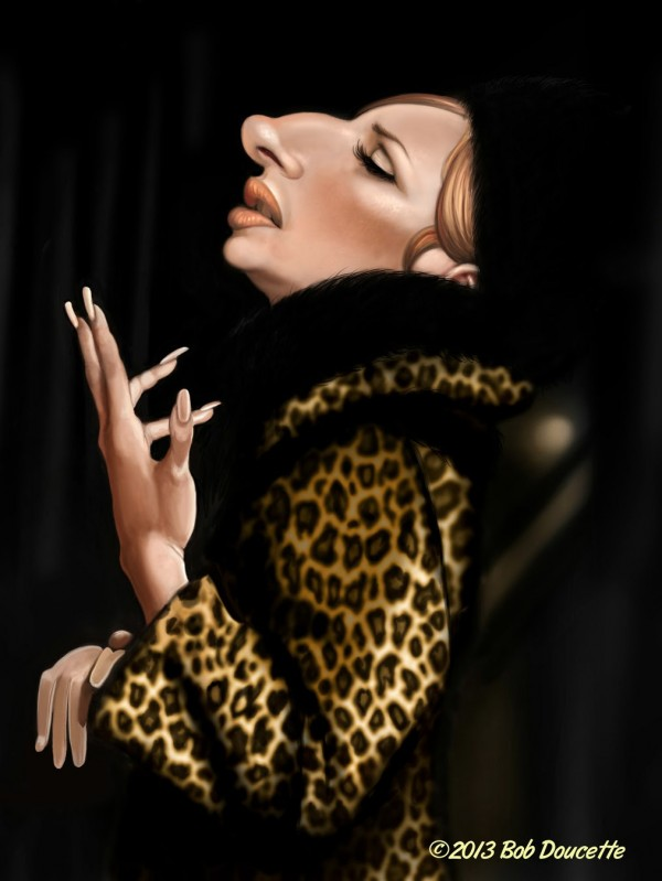 Caricatura de Barbra Streisand en Funny Girl