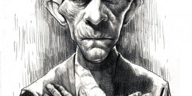 Caricatura de Boris Karloff en Imhotep