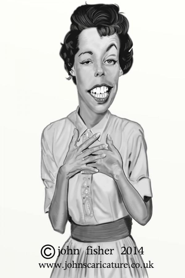 Caricatura de Carol Burnett