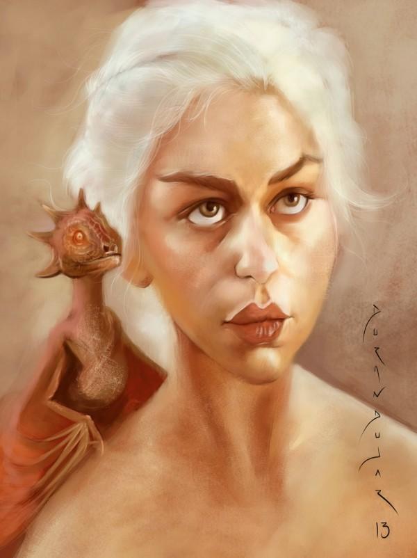 Caricatura de Daenerys Targaryen, Khaleesi