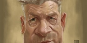 Caricatura de David Lynch