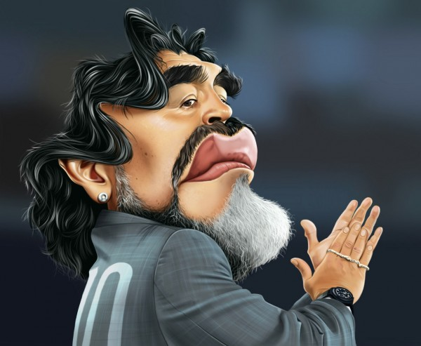 Caricatura de Diego Armando Maradona