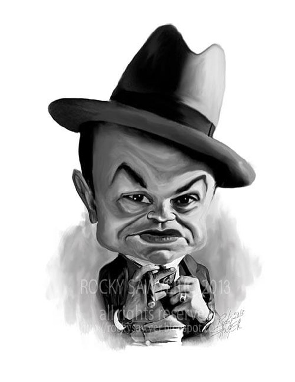 Caricatura de Edward G. Robinson