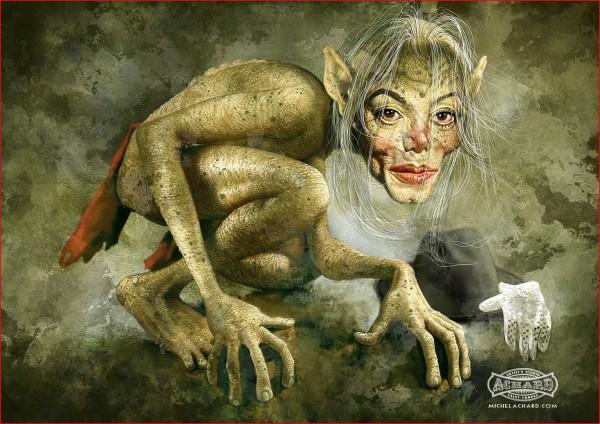 Caricatura de Gollum Jackson