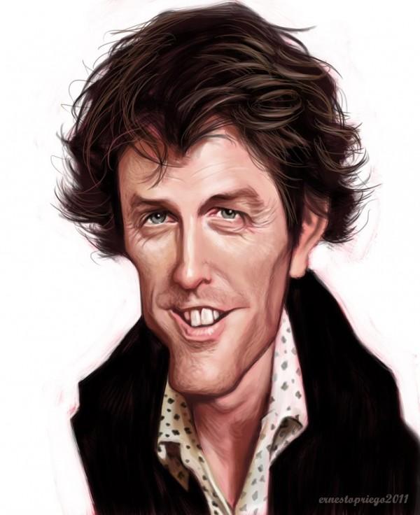 Caricatura de Hugh Grant