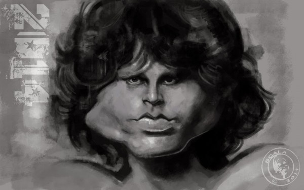 Caricatura de Jim Morrison de The Doors