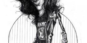 Caricatura de Joey Ramone – The Ramones