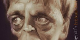 Caricatura de Klaus Kinski