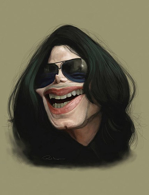 Caricatura de Michael Jackson