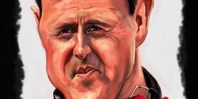 Caricatura de Michael Schumacher