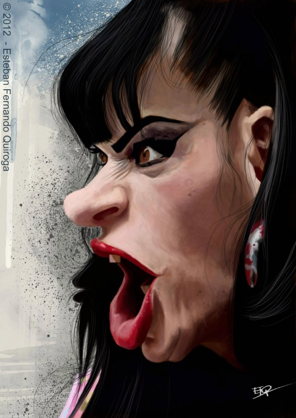 Caricatura de Nina Hagen