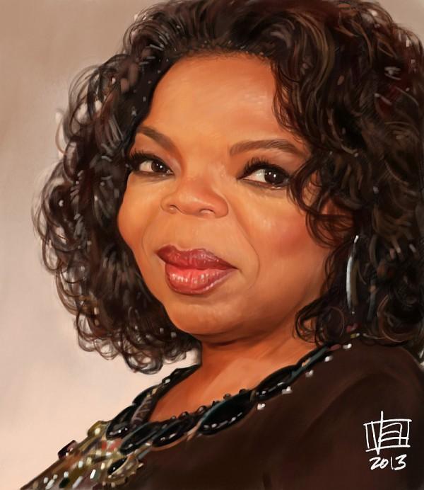 Caricatura de Oprah Winfrey