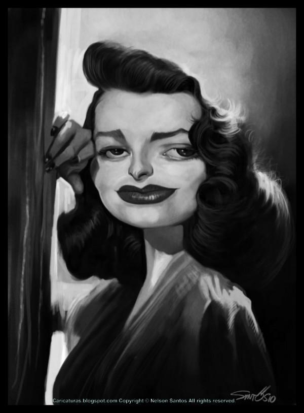 Caricatura de Patricia Neal