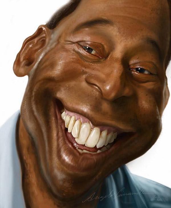 Caricatura de Pelé