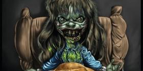Caricatura de Regan MacNeil - El Exorcista