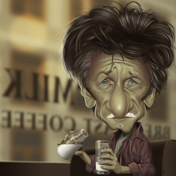 Caricatura de Sean Penn