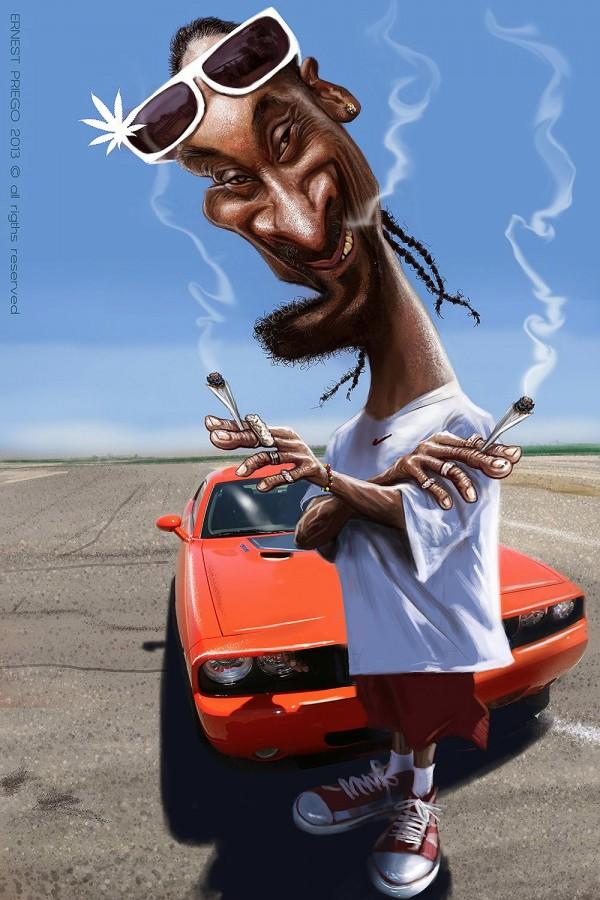 Caricatura de Snoop Dogg
