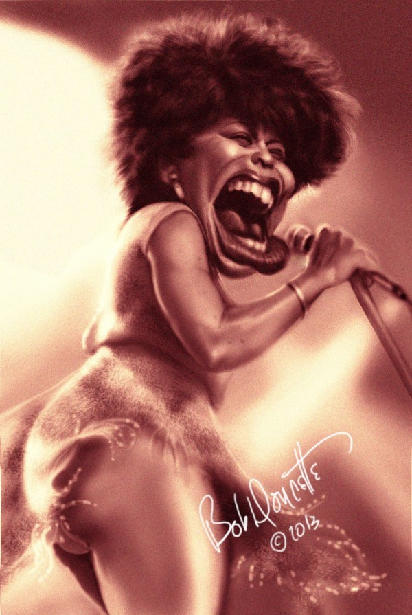 Caricatura de Tina Turner