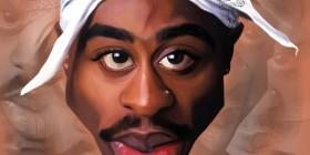 Caricatura de Tupac Shakur