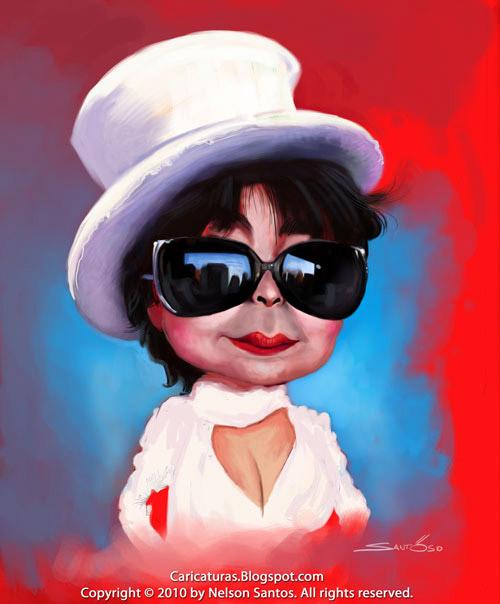 Caricatura de Yoko Ono