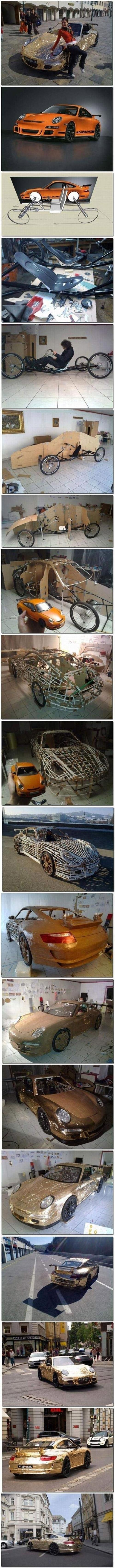 Construye tu propio Porsche de cartón