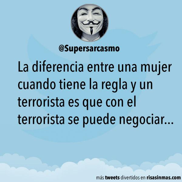 Diferencia entre una mujer y un terrorista