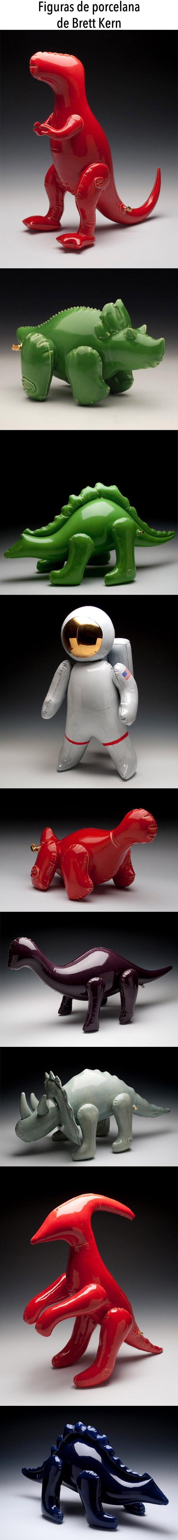 Divertidas figuras de porcelana