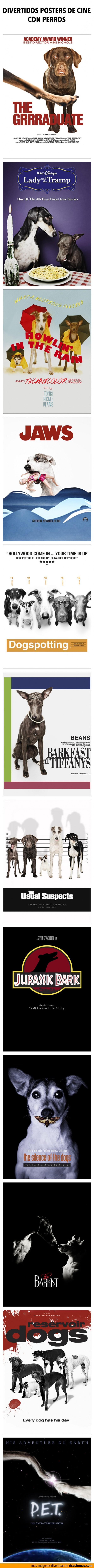 Divertidos posters de cine con perros