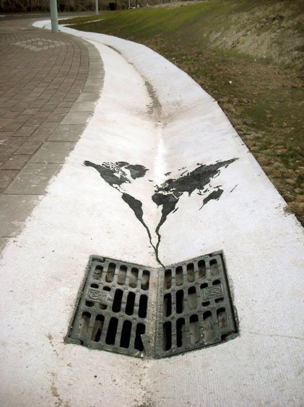 El mundo se va por la alcantarilla