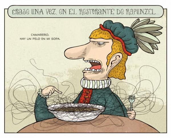 En el restaurante de Rapunzel