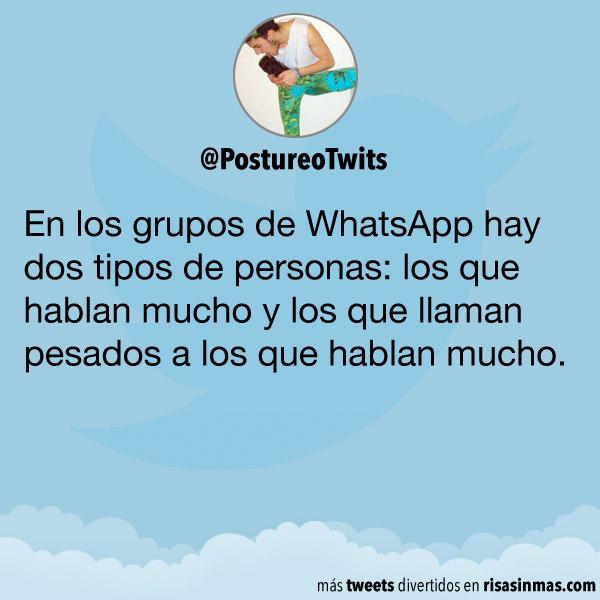En los grupos de WhatsApp hay dos tipos de personas