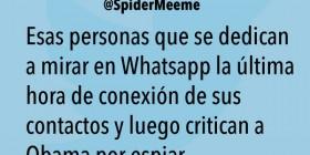 Esas personas que se dedican a mirar en Whatsapp