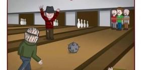 Freddy y Jason juegan a los bolos