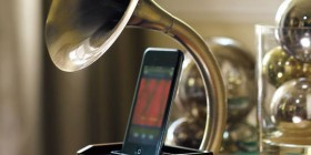 Gramófono dock de iPhone