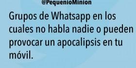 Grupos de Whatsapp que provocan apocalipsis