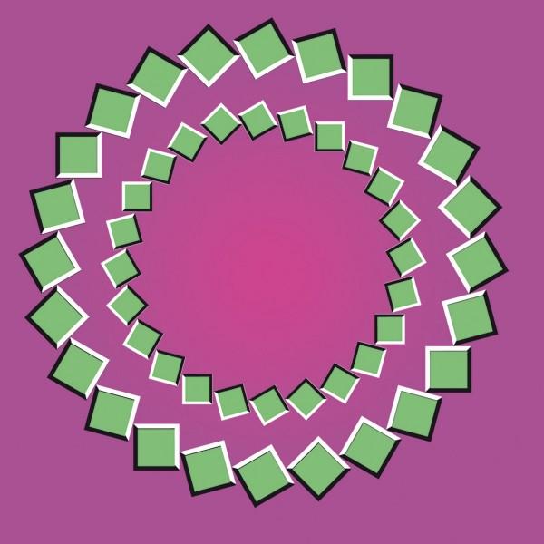 Ilusión óptica: Círculos en movimiento