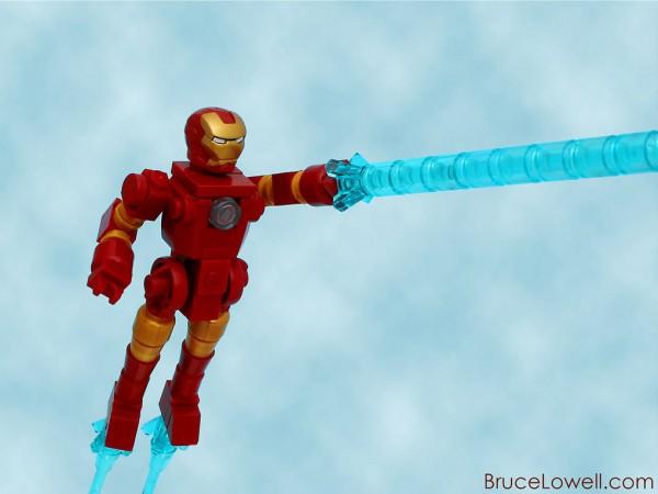 Iron Man hecho con LEGO