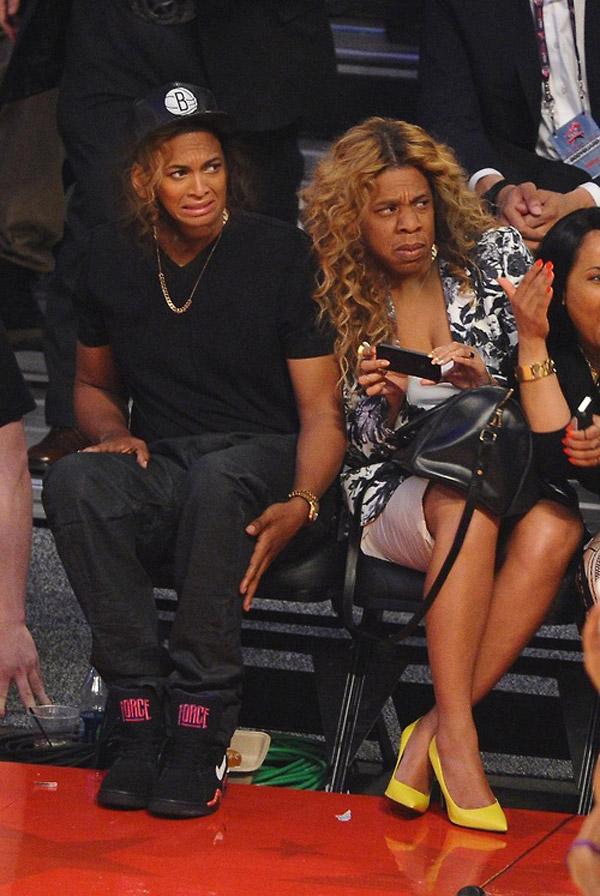 Jay-Z y Beyoncé en el basket
