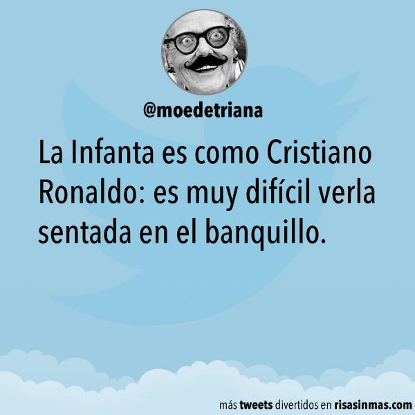 La Infanta es como Cristiano Ronaldo