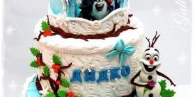 La tarta de la película Frozen