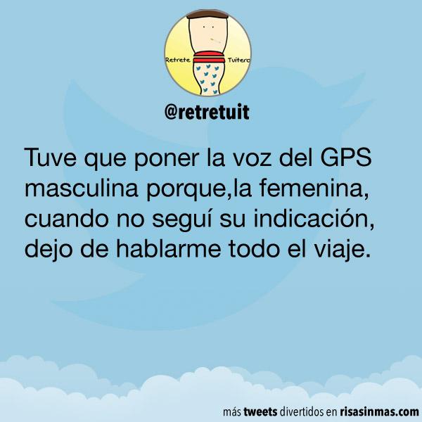 La voz del GPS masculina