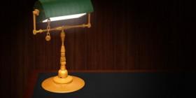 Lámpara realizada con LEGO