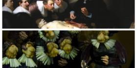 Lección de anatomía del Dr. Nicolaes Tulp versión vegetal