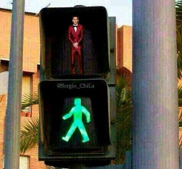 Leo Messi en los semáforos