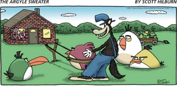 Los tres cerditos y Angry Birds